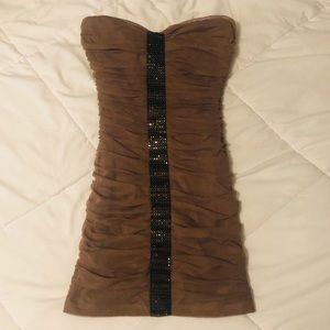 Gorgeous brown mini dress